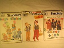 CHOICE 1994 Simplicity Pattern TODDLER Child JUMPSUIT Dress JACKET Pants VEST