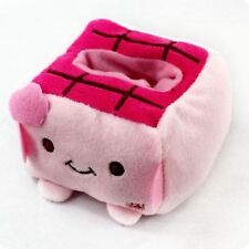 Mobile Holder Cute Tofu Plush Block Seat Stand Cell Phone Protect Cartoon Pink