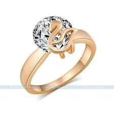 2015 New Fashion Shiny Clear Crystal Dimond Rings 18K Gold Plated Jewellery Gift