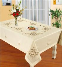 super large beige tablecloth embroidery restaurant kitchen coffee decor wedding