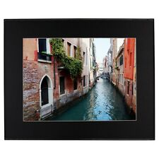 Colorful Venice Canal Photo Black Mat Framed Print Paulo Monteiro