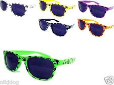 12 Pairs Marijuana Wayfarer Sunglasses Black Lenses Assorted Frame Colors