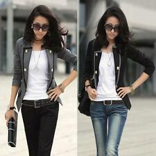 Women One Button Blazer Slim OL Casual Suit Ladies Jacket Coat Outerwear HOT