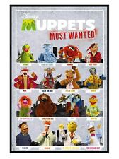 New Gloss Black Framed Disney's The Muppets Most Wanted Poster