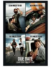 Due Date Black Wooden Framed Leave Your Comfort Zone Maxi Poster 61x91.5cm