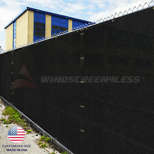 Black Size 4' 5' 6' 8' Tall Fence Privacy Screen Windscreen Mesh Fabric Cover
