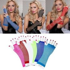 Women Lady High Quality Dance Costume Party Ball Fishnet Mesh Long Gloves