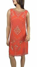 New Coral 1920's Gatsby fully embellished shift dress sizes 8 10 12 14 16 18