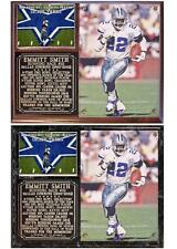 Emmitt Smith #22 Dallas Cowboys Legend NFL Hall Of Fame Photo Card Plaque