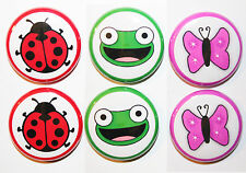 6 Mini LADYBIRD - FROG - BUTTERFLY Fridge MAGNETS - Gift & Kitchen - 25mm