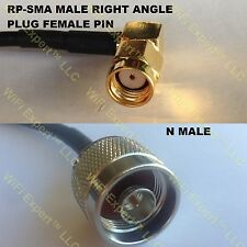USA-CA RG405 RP-SMA MALE ANGLE to N MALE Coaxial RF Pigtail Cable