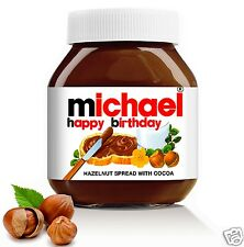 Ideal Gift • Personalised • Name • For nutella • Label • Message •Special Unique