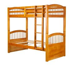 100% Wood Triplet Twin/Twin Bunk Bed. Trundle/Drawers/Rail Guard Sold Separately