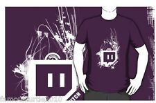 Unisex Purple Twitch tv short sleeve t shirt S M L tshirt