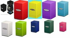 CHOOSE A COLOR - Ultra Pro SATIN TOWER Deck Box - Holds 100 Cards + Dice - MTG