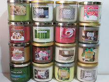 New Bath & Body Works White Barn Slatkin 3 Wick 14.5 oz Candle Some Rare U Pick