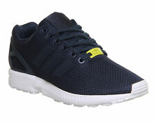 Mens Adidas Zx Flux NAVY WHITE Trainers Shoes