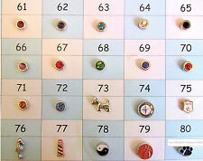 Floating Charms Beads for Memory Floating Glass Lockets Set 2