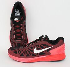 Nike Lunarglide 6 Black, White, Bright Crimson 654433-010 NEW, SALE