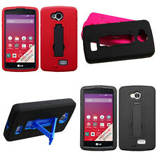 Symbiosis Rubberized Hybrid Stand Protector Cover Phone Case LG Tribute LS660