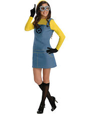 Despicable Me Deluxe Adult Minion Female New Fancy Dress Halloween Costume XS-L