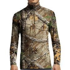IceBreaker BodyFit 200 IKA Merino Wool Base Layer Zip Neck Hunting/Ski Camo $140
