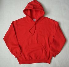 NEW Gildan Pullover Hooded Mens Red Adult Sweatshirt Hoodie Many Sizes