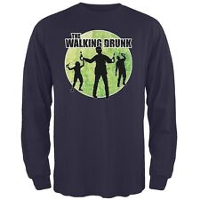 St. Patricks Day - The Walking Drunk Navy Adult Long Sleeve T-Shirt