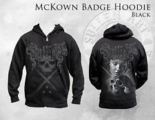 SULLEN MCKOWN BADGE ROBERT MCKOWN SKULL INK PUNK GOTH TATTOO ZIP UP HOODIE M-4XL