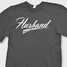 Husband Since (Your Year) Wedding T-shirt Anniversary Groom Gift Tee Shirt