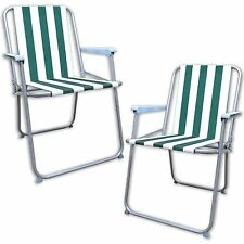 GARDEN PATIO FOLDING STRIPED DECK PICNIC CAMPING BEACH BBQ PARTY CHAIR RELAX
