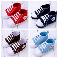 Newborn Kids Infant Toddler Baby Boy Girl Sole Crib Soft Shoes Sneaker Cute