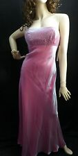 Sexy Pink / Fusia Strapless Dress Gown Wedding Prom Ball Party Formal