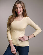 BRAVISSIMO Perfectly Simple Scoop Neck Long Sleeve Tee by Pepperberry (loc. 77)