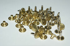 25 TWO PART STRONG  DOUBLE CAP RIVETS  11mm/10mm  BRASS - NICKEL - BLACK