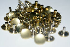25 TWO PART STRONG  DOUBLE CAP RIVETS  9mm/12mm  BRASS - NICKEL - BLACK