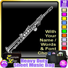 Sax Soprano Picture With Your Words - Sheet Music & Accessories Bag MusicaliTee