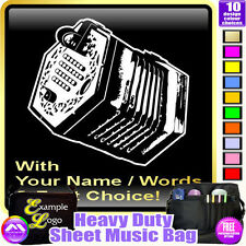 Concertina Picture With Your Words - Sheet Music & Accessories Bag MusicaliTee