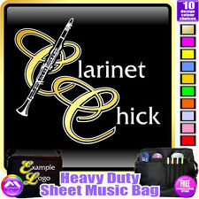 Clarinet Chick - Sheet Music & Accessories Personalised Bag by MusicaliTee