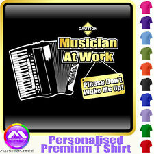 Accordion Dont Wake Me - Personalised Music T Shirt 5yrs - 6XL by MusicaliTee