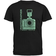 Photographer Shoot People Funny Black Adult T-Shirt