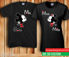 Cartoon Mr. Mrs. Soul Mate Couples T-shirts - Price is for the set of 2 t-shirts