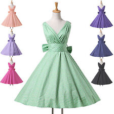 Housewife Vintage Rockabilly Polka Dot Retro Swing 40s 50s 60s pinup Party Dress