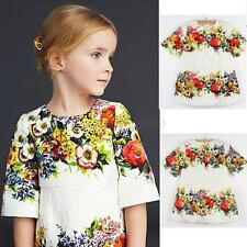 Vintage Toddler One-piece Dresses Kids Baby Girls Summer Party Casual Skirt 2-7T