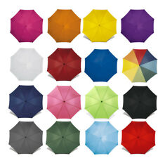 """40"""" Classic Automatic Wedding Umbrella with Wooden Crook Handle - Walking Brolly"""