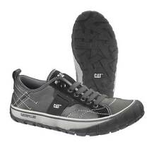 CATERPILLAR NEDER LEATHER BLACK AND GRAY SNEAKER P713026 MEDIUM