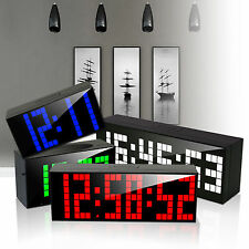 Digital LED Alarm Clocks Wall Table Kitchen Countdown Timer Snooze Calender Date