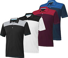 Adidas ClimaChill Shoulder Block Golf Polo Shirt Closeout Mens New