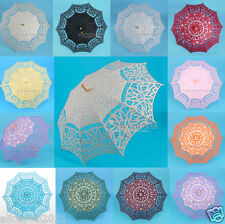 Wedding Decor Umbrella Battenburg Lace Sun Parasol Floral Bridal Photo Props New