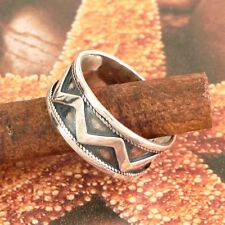 STERLING SILVER BAND NO STONE SOLID 925/1000 NEW SIZE J-Y JEWELLERY